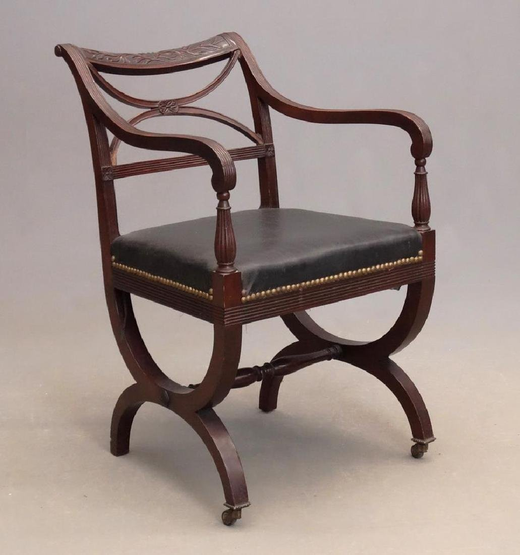 Duncan Phyfe Curule Arm Chair