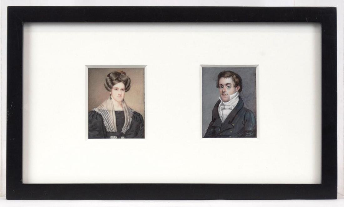 American School, Pair Of Portrait Miniatures