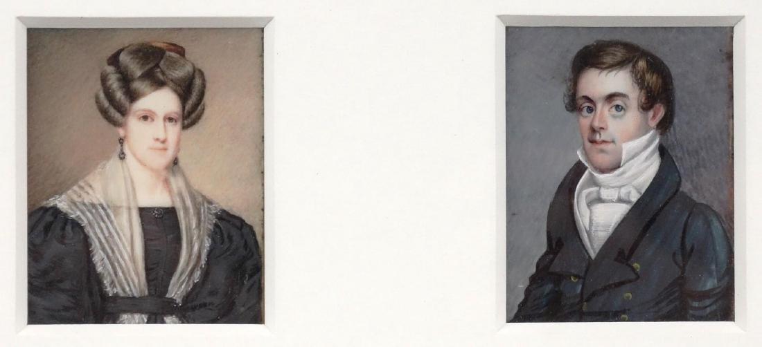 American School, Pair Of Portrait Miniatures - 2