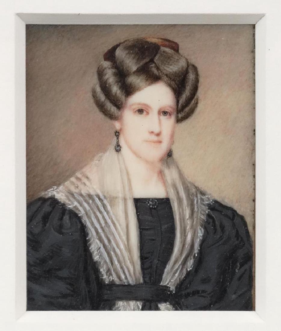 American School, Pair Of Portrait Miniatures - 3