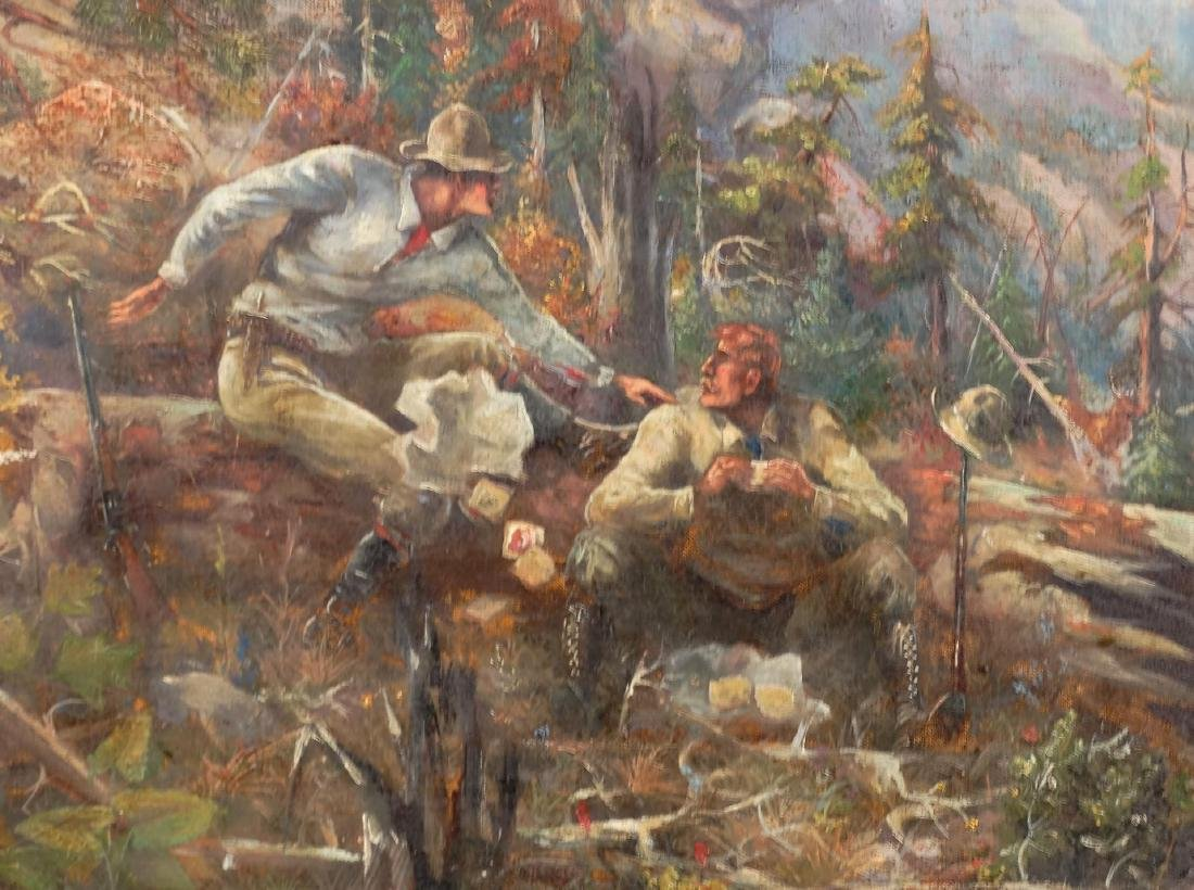 American School, Wooded Landscape With Hunters - 2