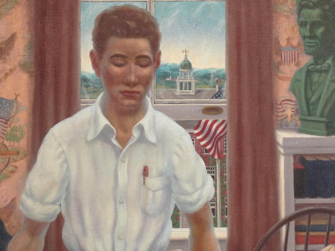 Modernist School, Boy With Hand On Book - 2