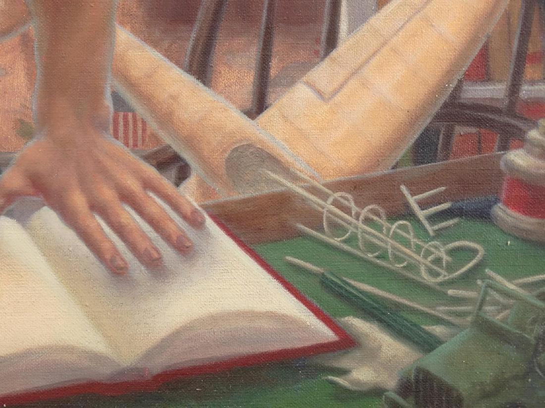 Modernist School, Boy With Hand On Book - 3
