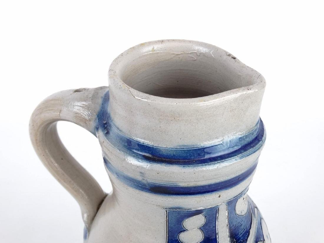 19th c. New Jersey Stoneware Jug - 2