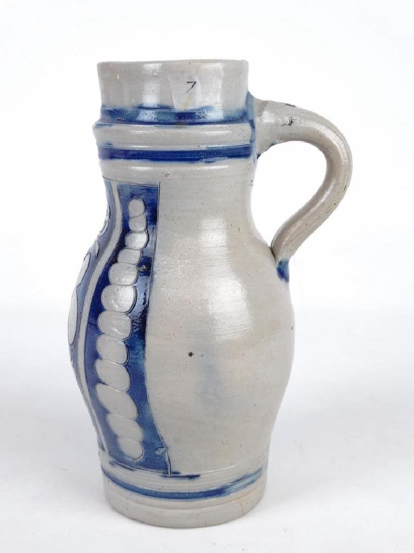 19th c. New Jersey Stoneware Jug - 3