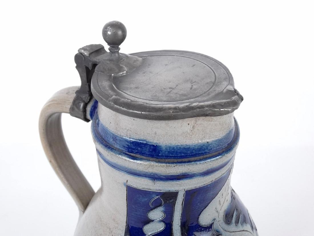 19th c. New Jersey Stoneware Jug - 2
