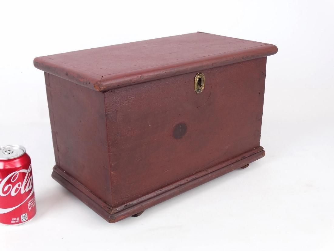 19th c. Miniature Blanket Box