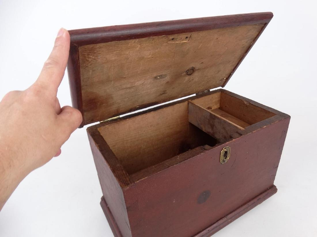 19th c. Miniature Blanket Box - 3
