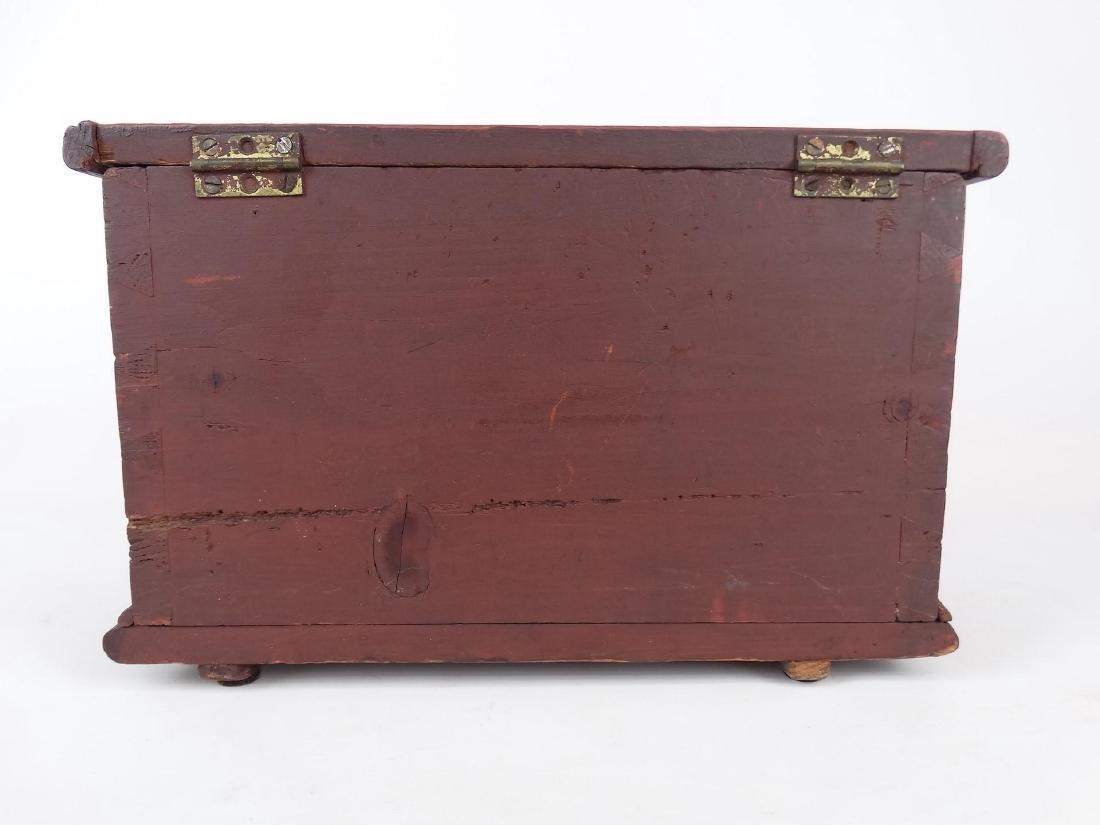 19th c. Miniature Blanket Box - 5