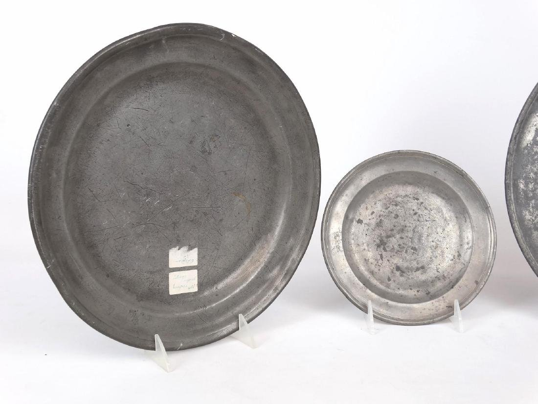 19th c. Pewter Plates - 2
