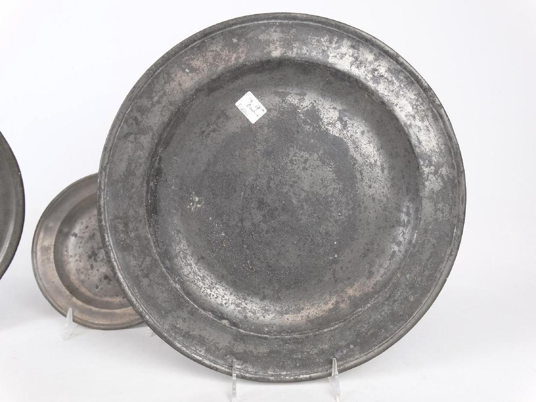 19th c. Pewter Plates - 3