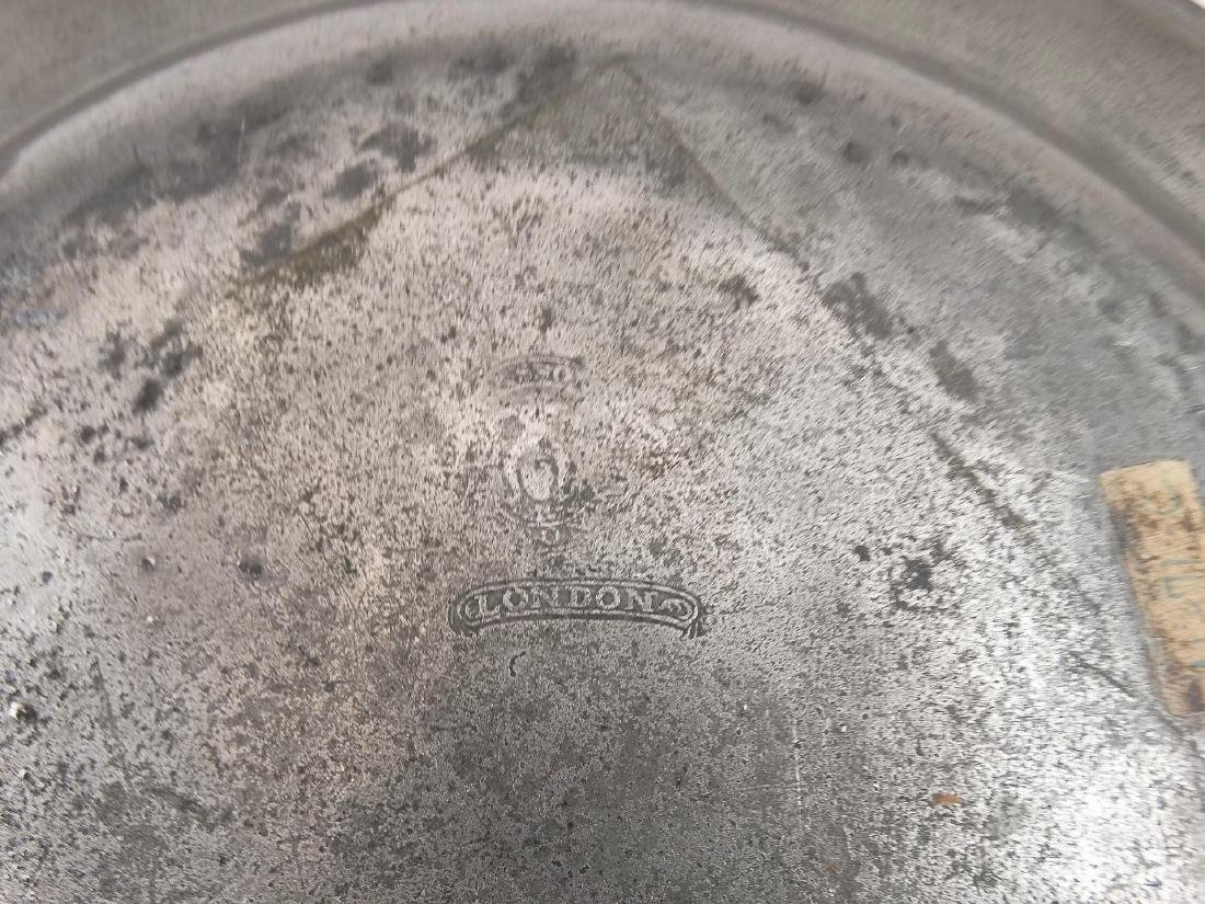 19th c. Pewter Plates - 5