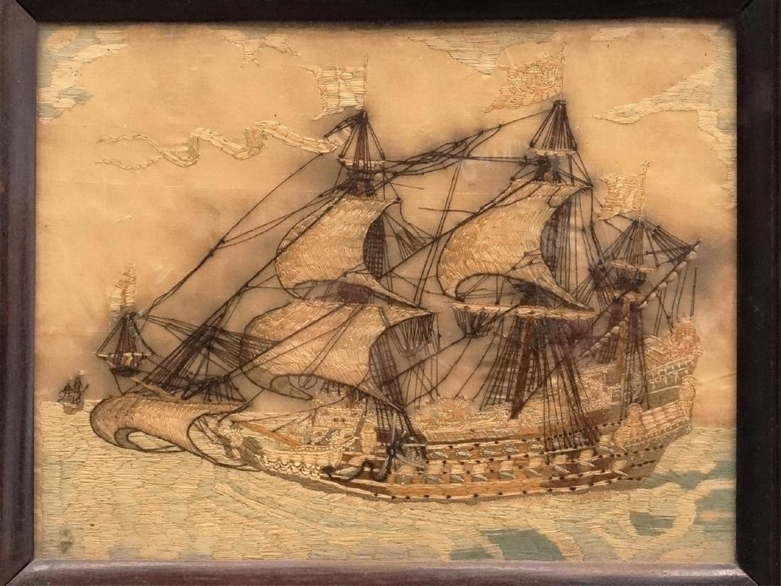 Pair 19th c. Ship Needleworks - 2