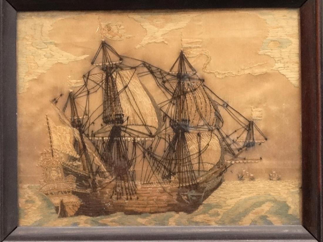 Pair 19th c. Ship Needleworks - 3