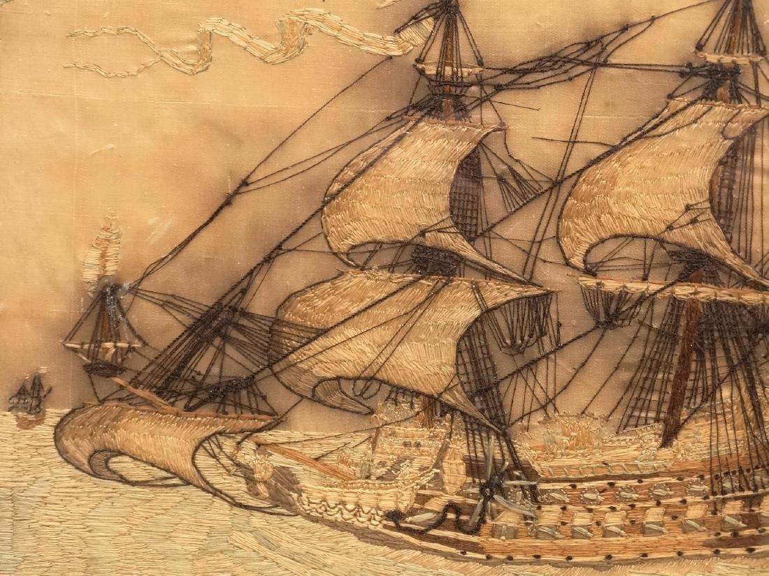 Pair 19th c. Ship Needleworks - 4