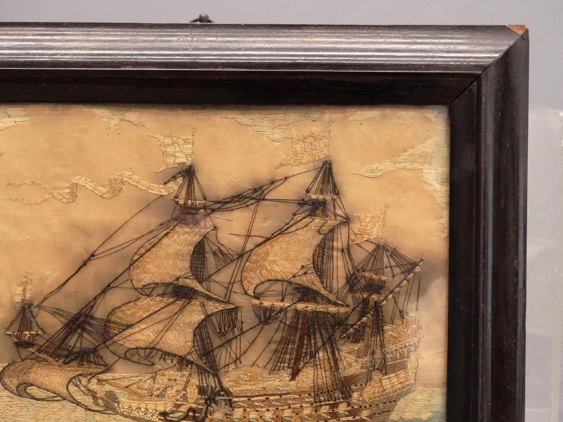 Pair 19th c. Ship Needleworks - 5