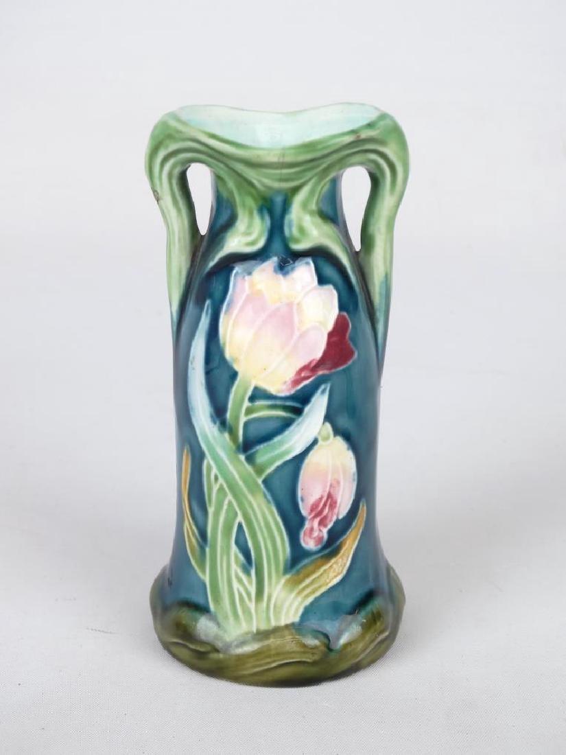 Majolica & Loetz Style Vases - 2