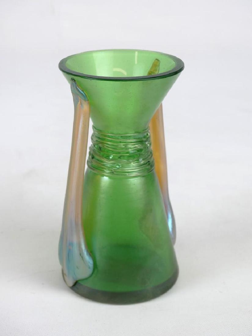Majolica & Loetz Style Vases - 5