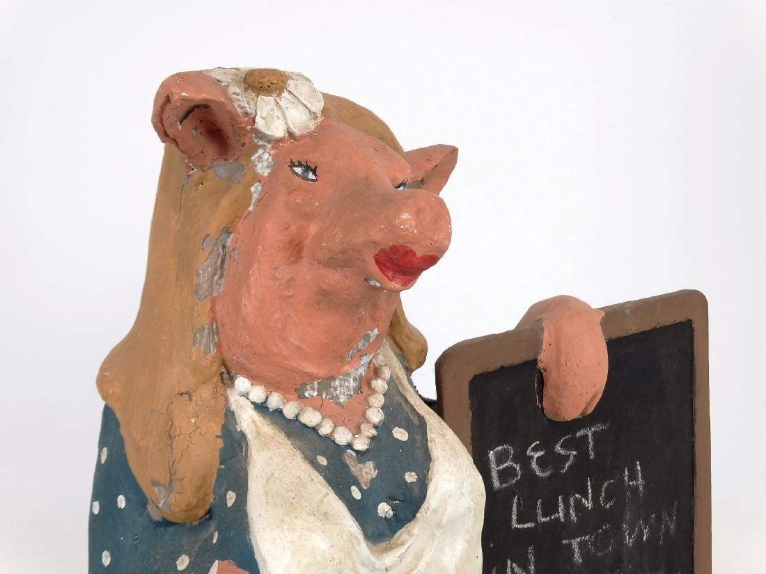 Pig Counter Top Restaurant Figure - 2