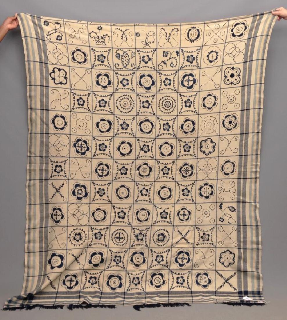 Crewel Work Blanket