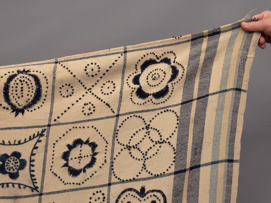 Crewel Work Blanket - 2