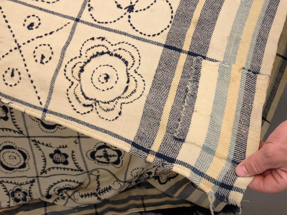 Crewel Work Blanket - 3