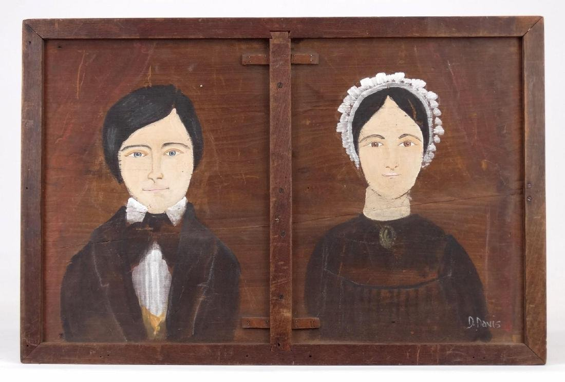 Folk Art Double Portrait