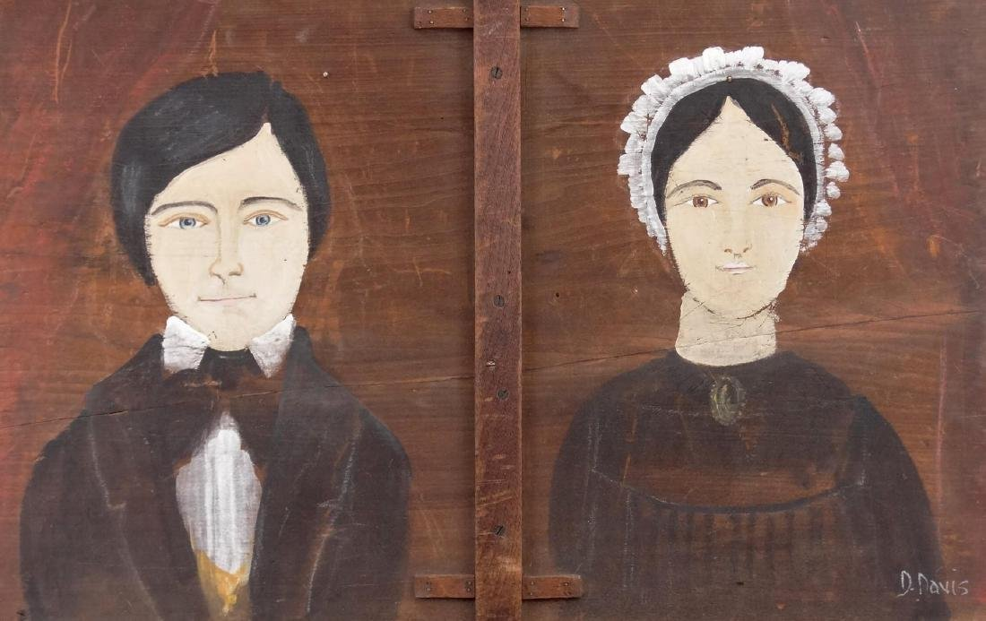 Folk Art Double Portrait - 2