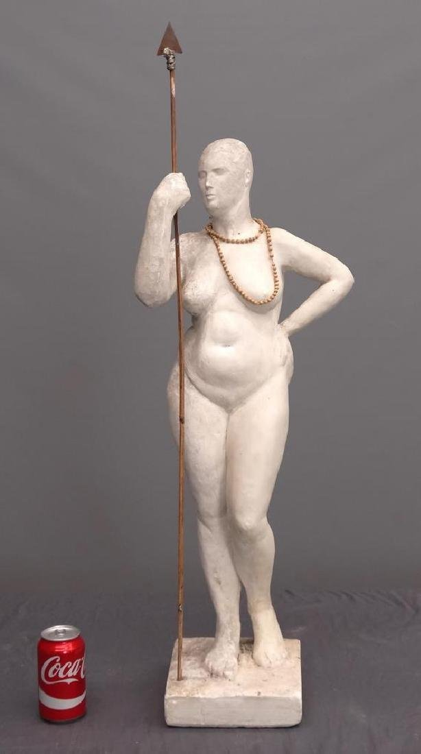 Plaster Statue Of A Woman
