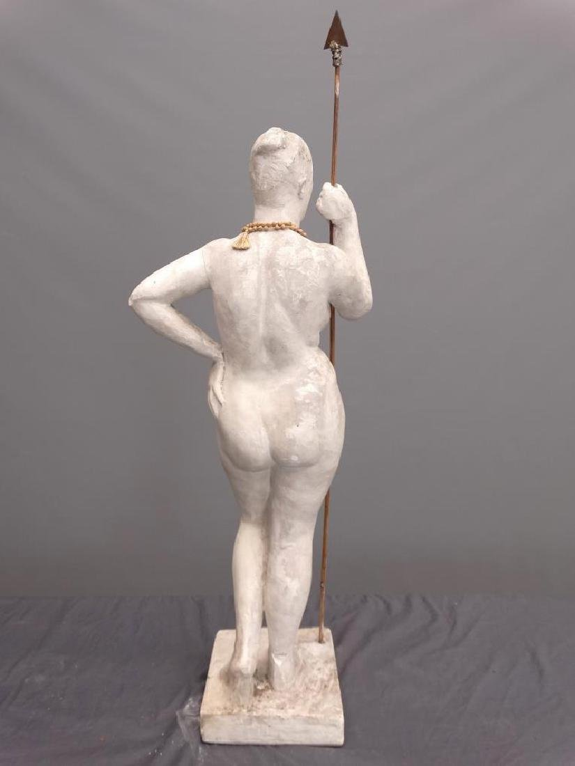 Plaster Statue Of A Woman - 5