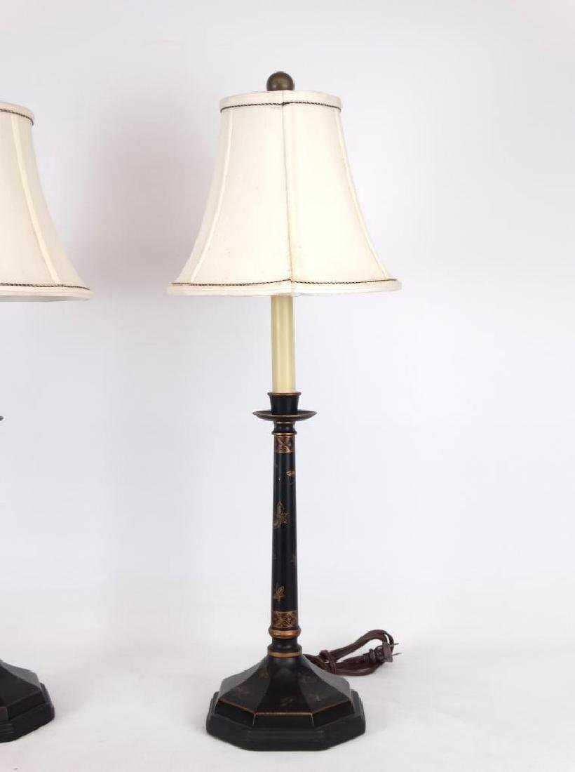 Pair Of Tole Lamps - 2