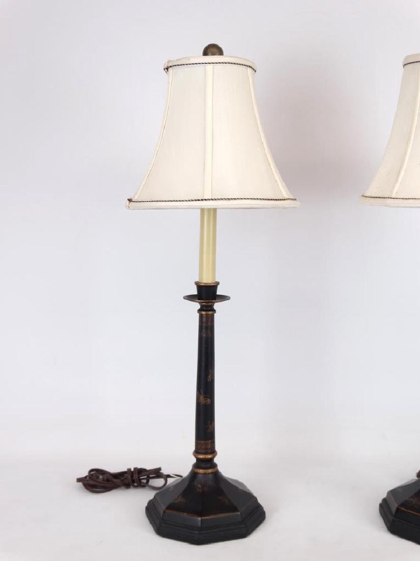 Pair Of Tole Lamps - 3