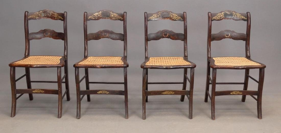 Set Of (4) 19th c. Chairs