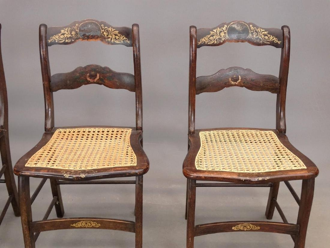 Set Of (4) 19th c. Chairs - 2