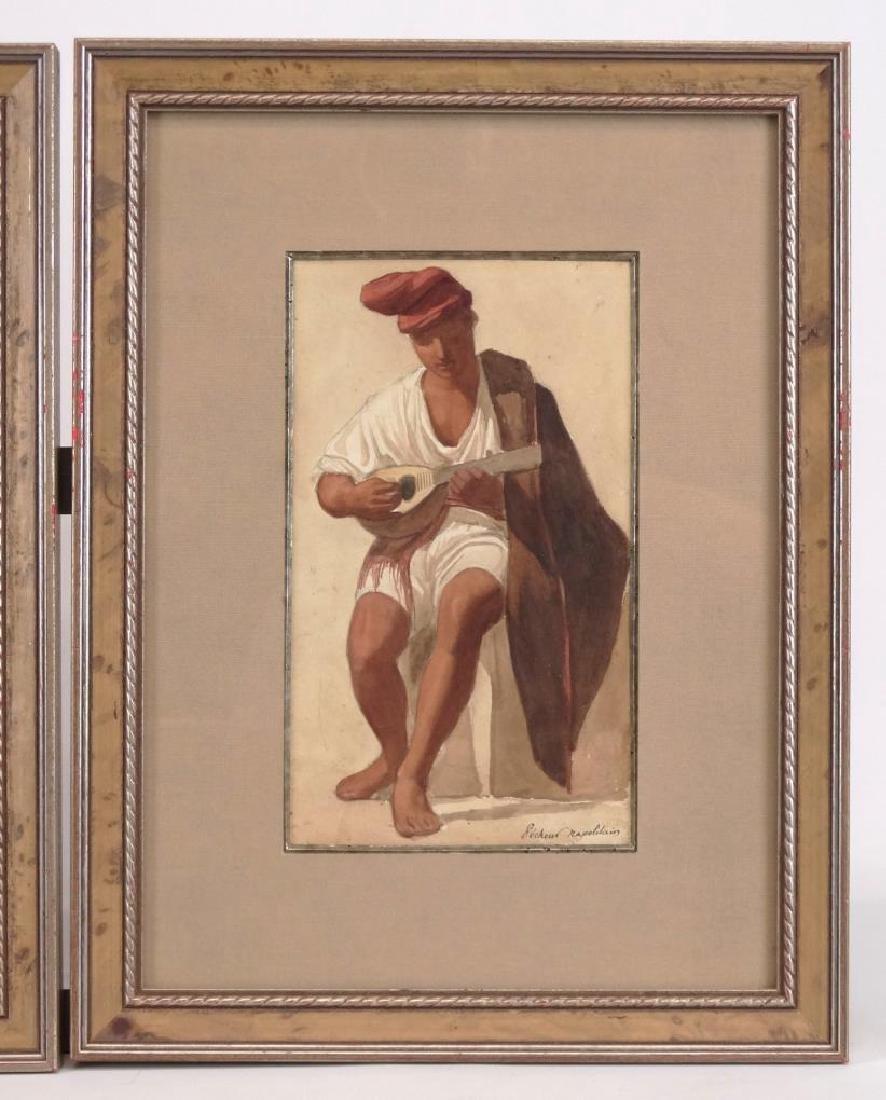 Italian School, Two Watercolors - 2