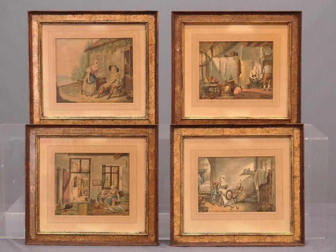Continental School, Series Of Watercolors