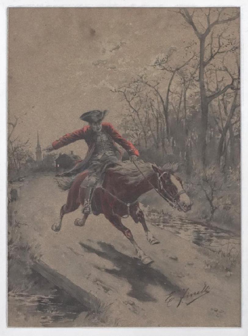 E. Finelli, Soldier On Horseback - 2