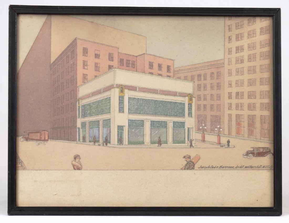Joseph Duke Harrison, Architectural Drawing