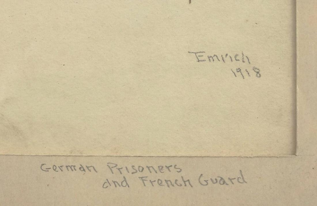 """Emrich """"German Prisoners and French Guard"""" - 3"""