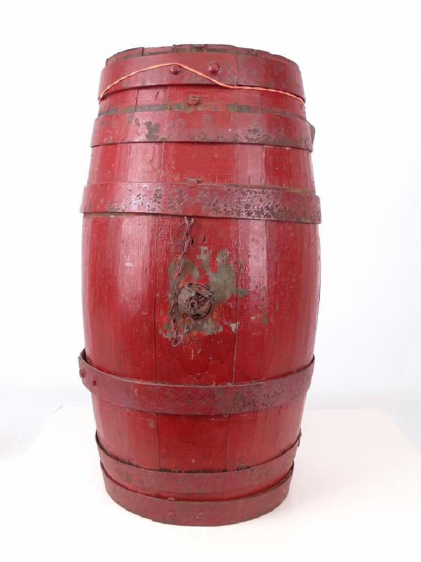 Oak Barrel Painted With Crest - 4