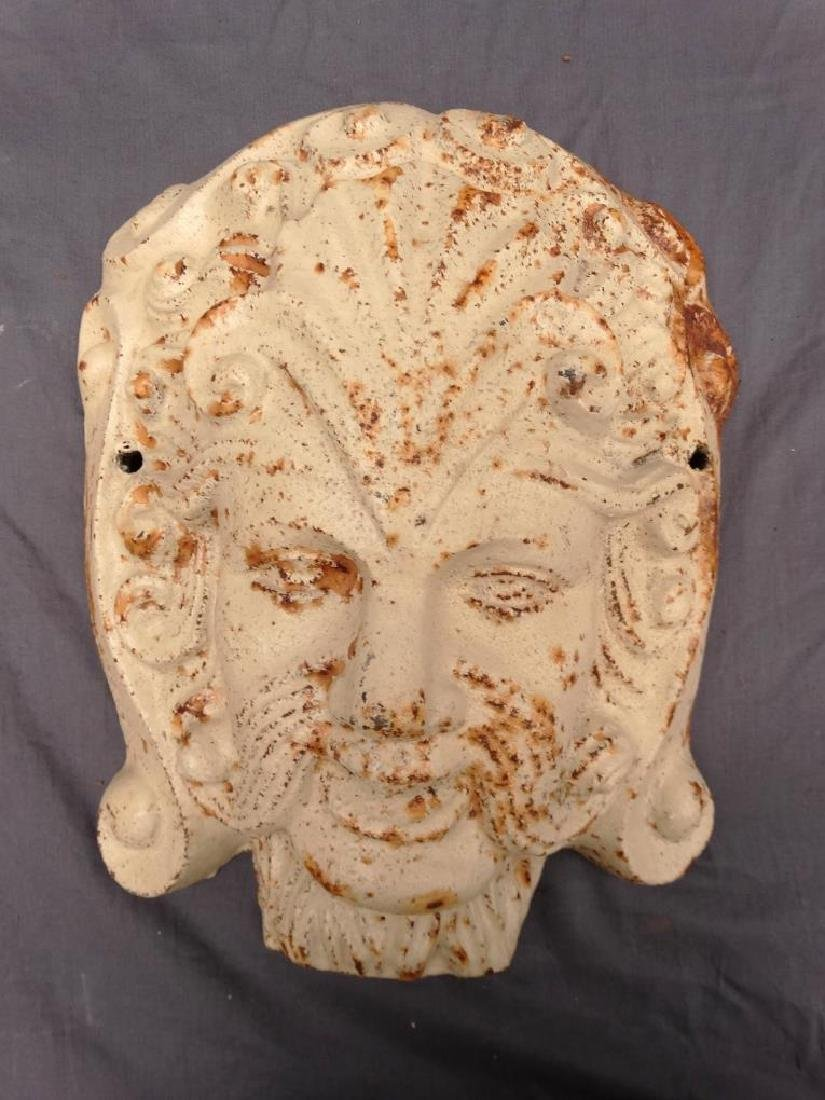 Pair Cast Iron Masks - 2