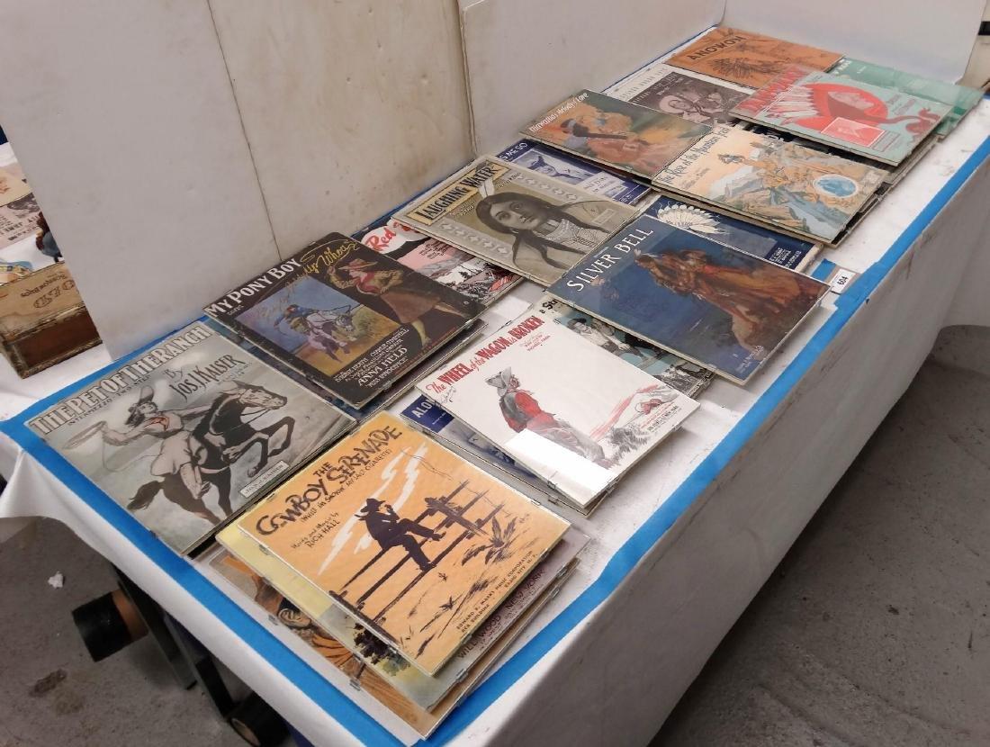 Framed Sheet Music Lot