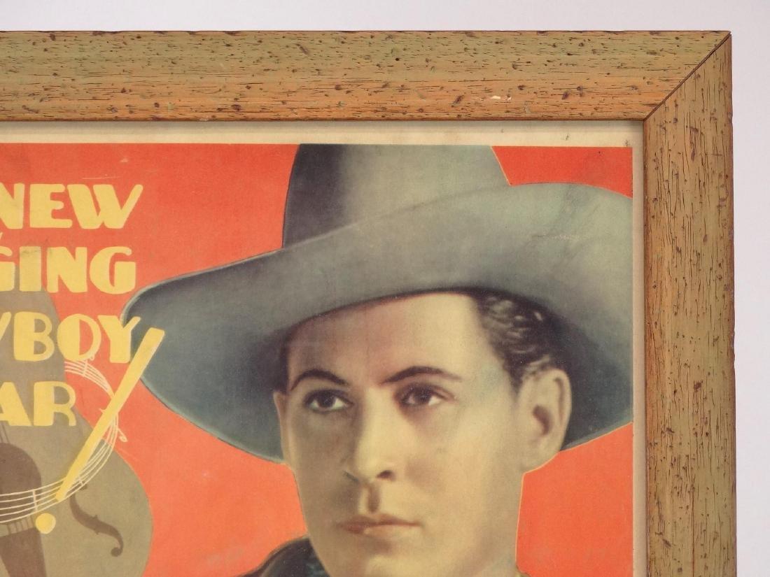 Vintage Cowboy Movie Poster - 2
