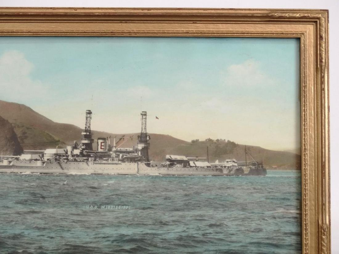 "Hand Colored Photograph ""U.S.S. MISSISSIPPI"" - 3"
