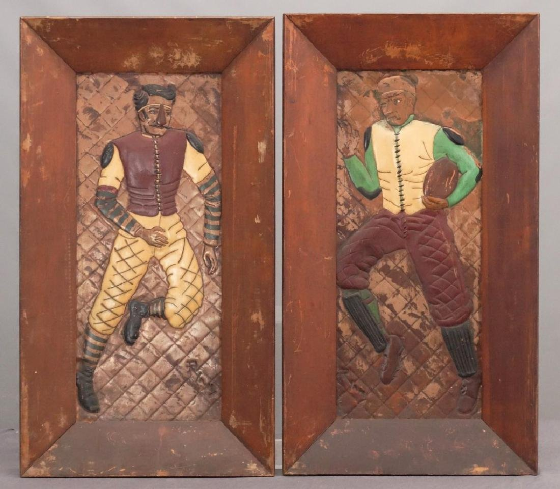 Embossed Football Players Artwork