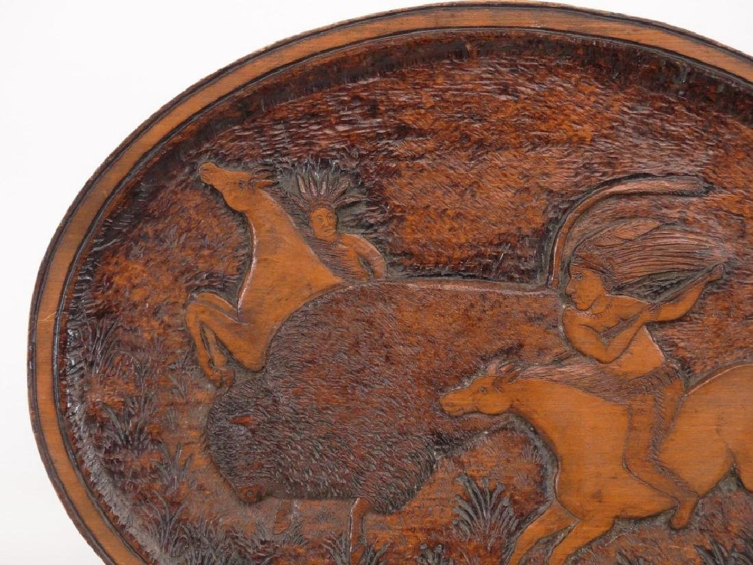 Carved Plaque With American Indians - 2