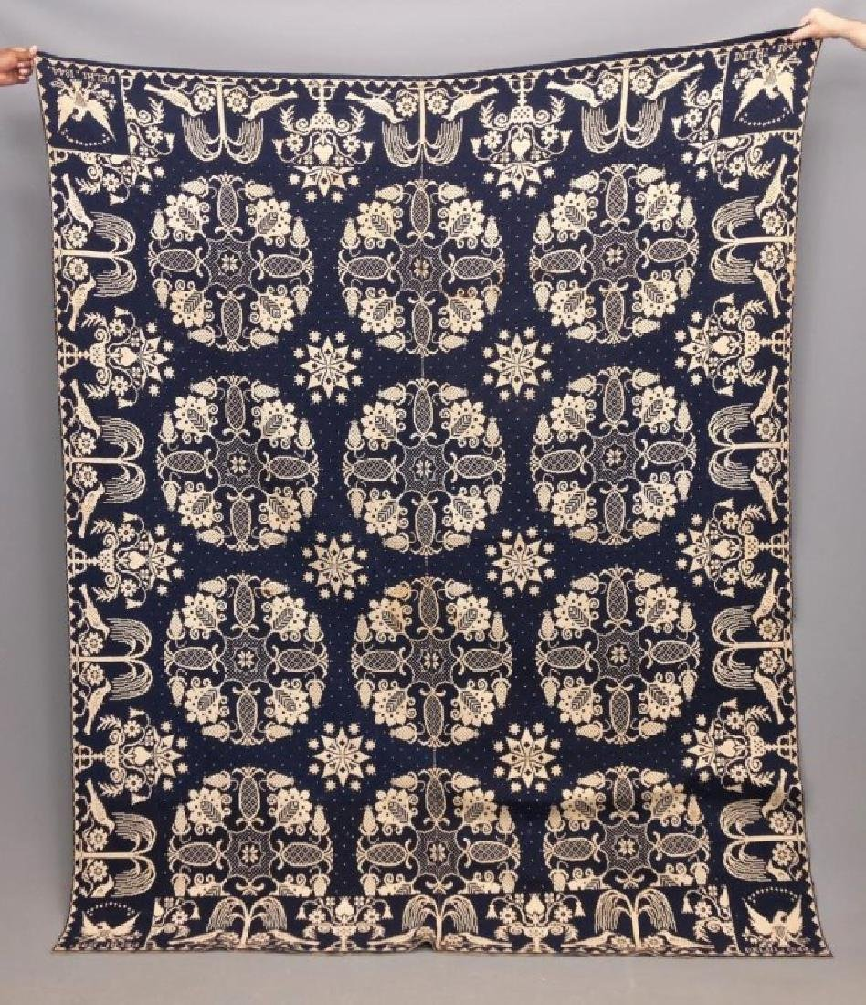 19th c. Delhi New York Coverlet