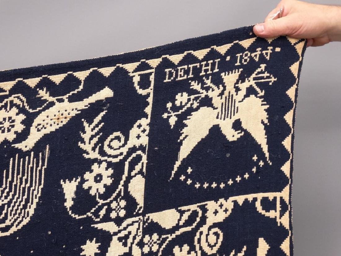 19th c. Delhi New York Coverlet - 2