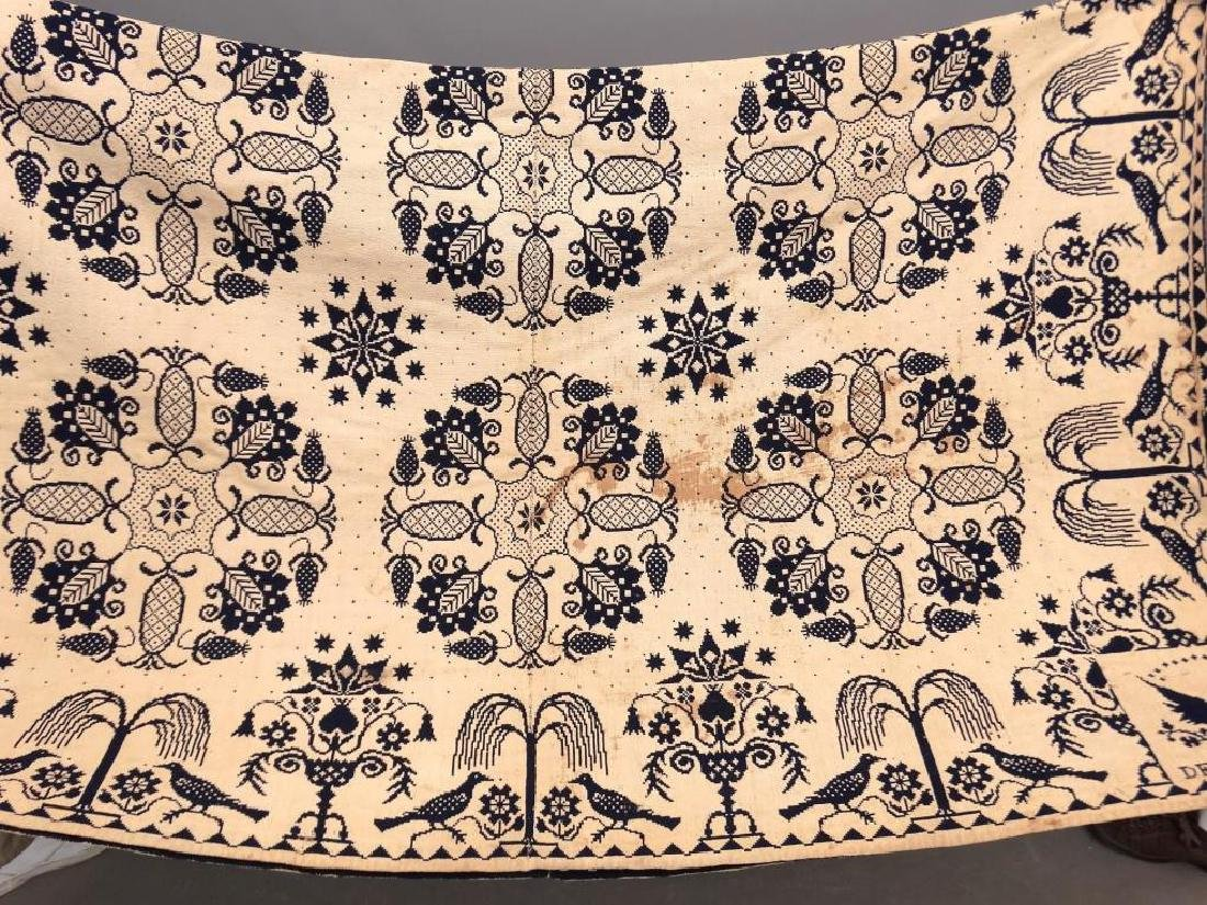 19th c. Delhi New York Coverlet - 4
