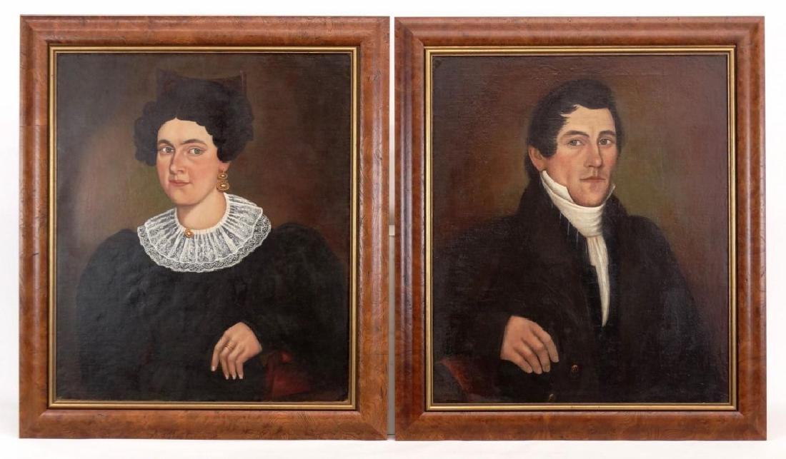 Pair 19th c. Portraits